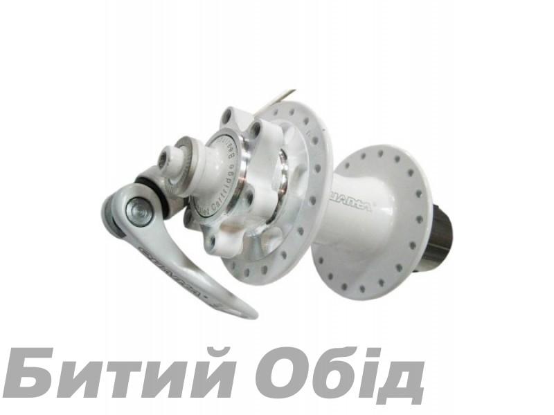 Втулка задняя QUANTA KT-SR6R Disk пром. 36 спиц, белая фото, купить, киев, запорожье