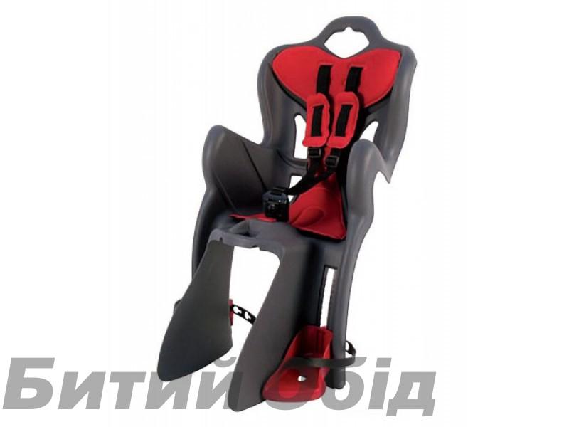 Сиденье детское Bellelli B1 Clamp на багажник до 22 кг серое с красной подкладкой