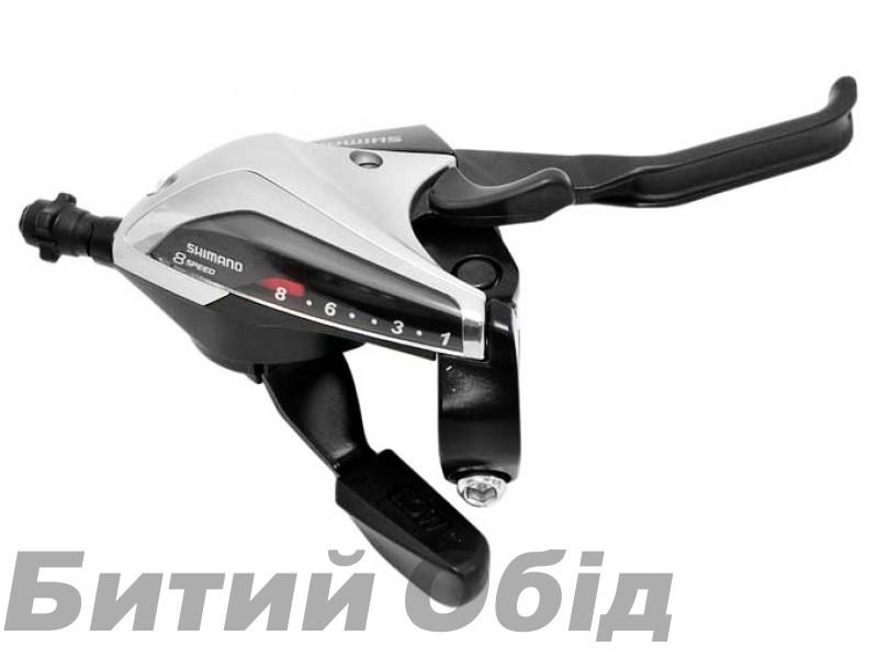 Моноблок Shimano ST-EF65 левый+правый, 3х7 +тросик, серебр