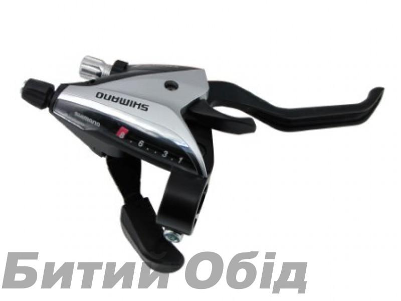 Моноблоки Shimano ST-EF65 (комплект),3-8-зв +тросик, серебр