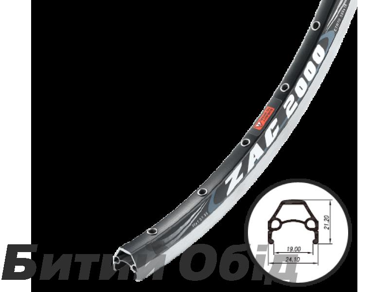 Обод Weinmann ZAC-2000 36H черный 26