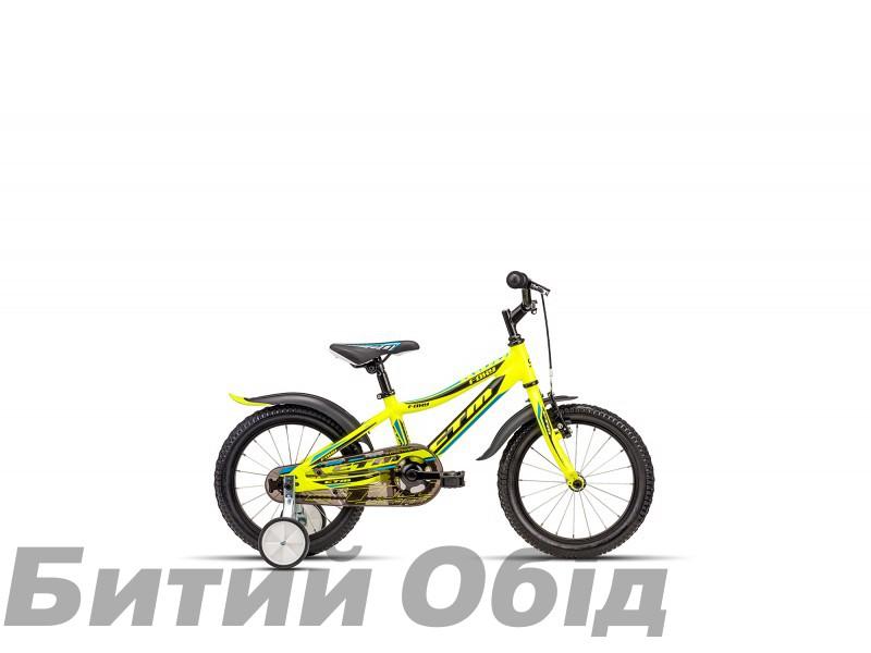 Детский велосипед CTM Foxy (reflex yellow/light blue) 2018 год фото, купить, киев, запорожье