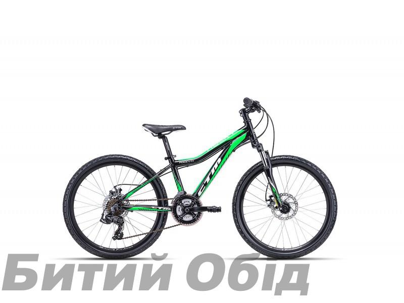 Детский велосипед CTM Rocky 3.0 (black/reflex green) 2018 год