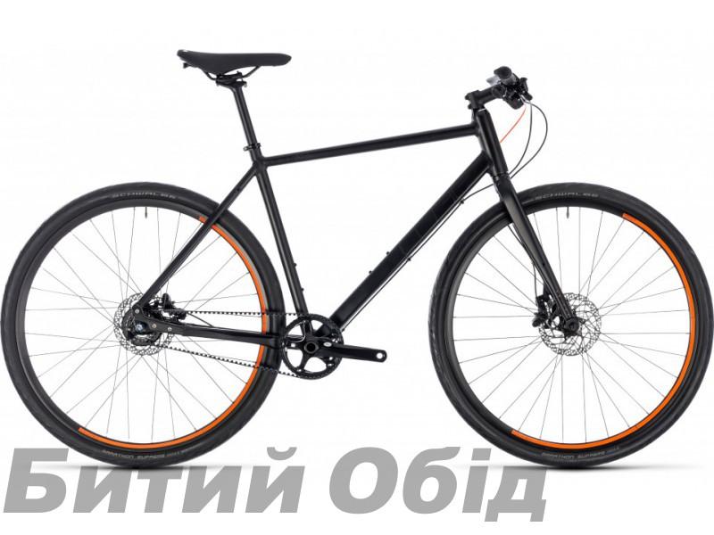 Велосипед Cube Editor (black´n´orange) 2018 год фото, купить, киев, запорожье