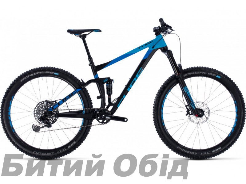 Велосипед CUBE Stereo 150 27.5+ (black´n´blue) 2018 года фото, купить, киев, запорожье