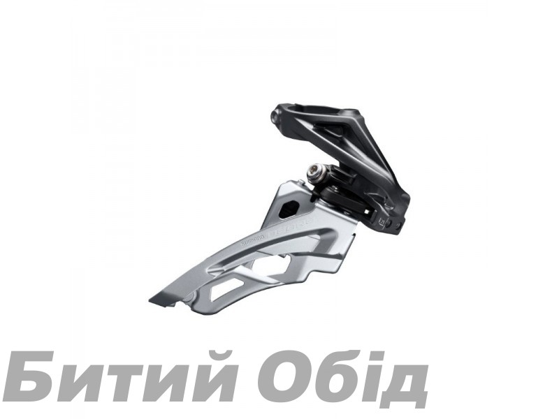 Переключатель передний Shimano FD-M6000-H, DEORE 3X10, HIGH CLAMP, SIDE SWING, FRONT-PULL, хамут