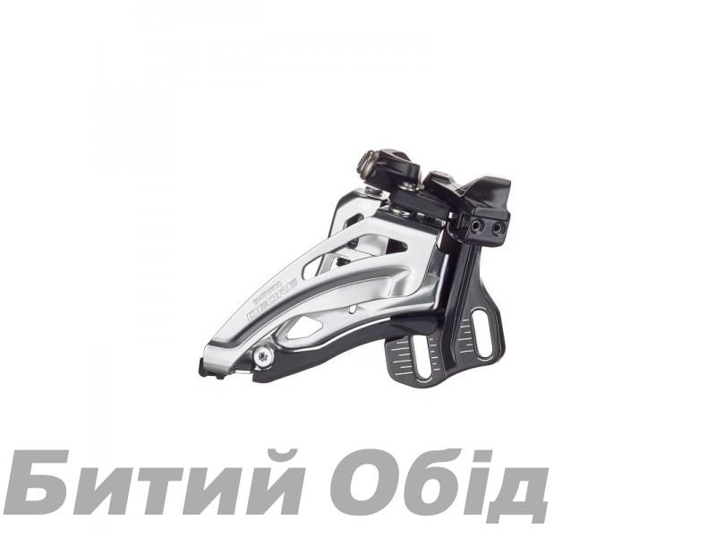 Переключатель передний Shimano FD-M6020-E, DEORE 2X10, SIDE SWING, FRONT-PULL, монтаж E-TYPE