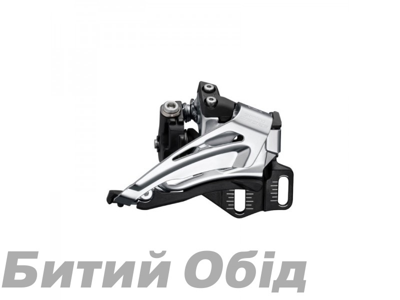 Переключатель передний Shimano FD-M6025-E, DEORE 2X10, TOP-SWING, DOWN-PULL, монтаж E-TYPE