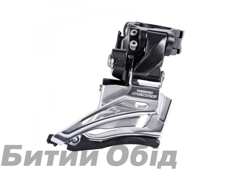 Переключатель передний Shimano FD-M6025-H, DEORE 2X10, HIGH CLAMP, DOWN-SWING, DUAL-PULL хомут фото, купить, киев, запорожье