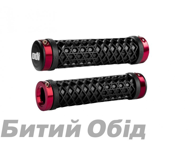 Грипсы ODI Vans® Lock-On Grips, Black w/ Red Clamps (черные с красными замками) фото, купить, киев, запорожье