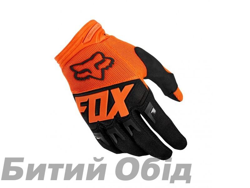Вело перчатки FOX DIRTPAW RACE Glove оранжевые фото, купить, киев, запорожье