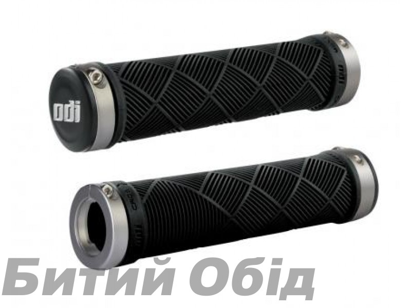 Грипсы ODI Cross Trainer MTB Lock-On Bonus Pack Black w/Gray Clamps (черные с серыми замками)