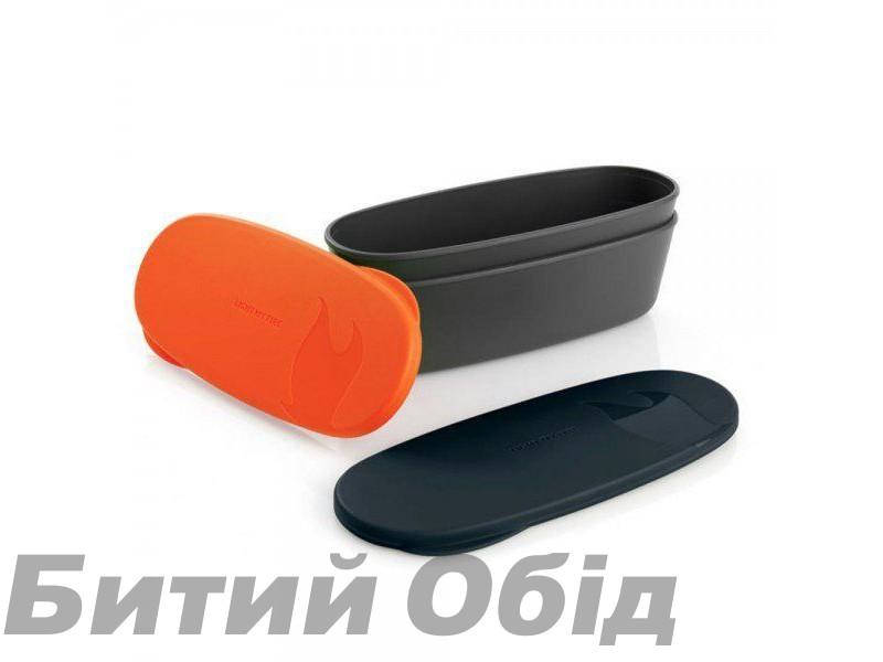 Набор посуды Light my Fire SnapBox Oval 2-pack, Orange-Black