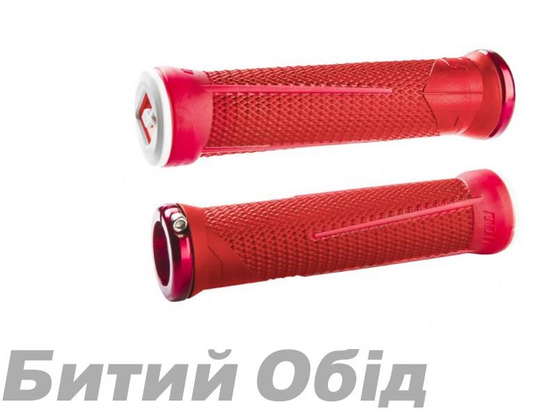 Грипсы ODI AG-1 Signature V2.1 Lock On, Red/Fire Red w/Red Clamps, красные с красными замками