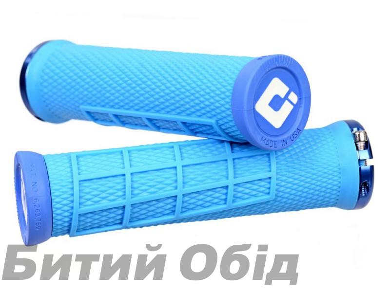 Грипсы ODI Elite Flow, V2.1 Lock On, Blue w/Blue Clamp, синие с синими замками