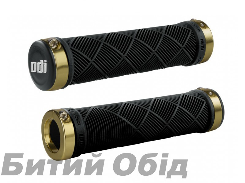 Грипсы ODI Cross Trainer MTB Lock-On Bonus Pack Black w/Gold Clamps (черные с золотыми замками)