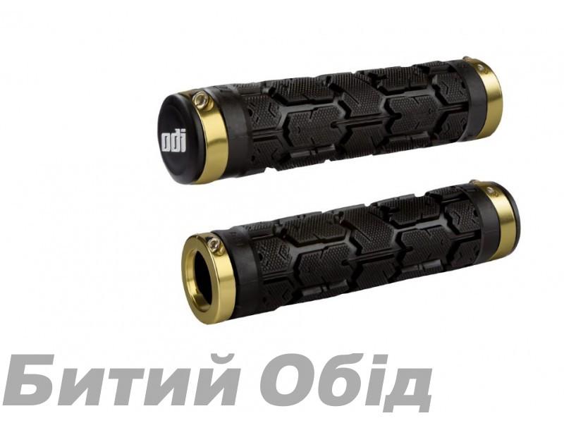 Грипсы ODI Rogue MTB Lock-On Bonus Pack Black w/Gold Clamps (черные с золотыми замками)