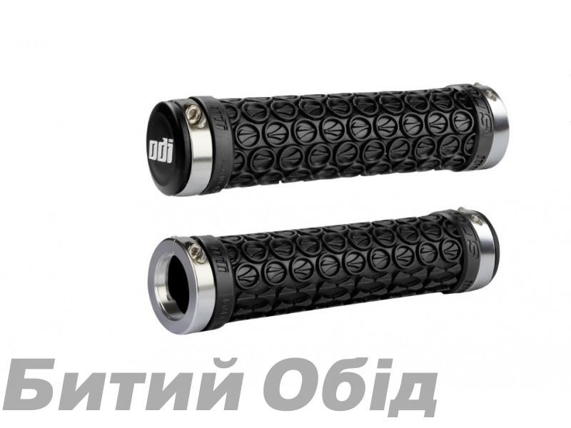 Грипсы ODI SDG LOCK-ON GRIPS Black w/Silver Clamps (черные с серебристыми замками)