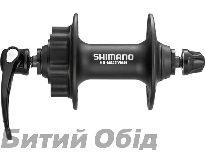 Втулка передняя Shimano HB-M525, для диск торм, 36сп. черн, для ротора на 6 болтов фото, купить, киев, запорожье