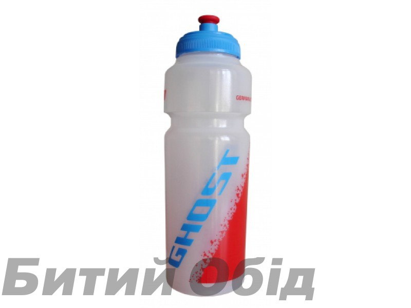 Фляга Ghost Water Bottle 0.75L white/red/cyan