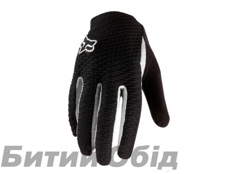 Вело перчатки FOX Attack Glove черно-белые фото, купить, киев, запорожье