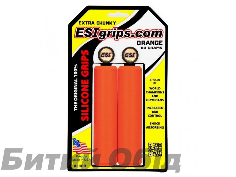 Грипсы ESI Extra Chunky Orange (оранжевые) фото, купить, киев, запорожье