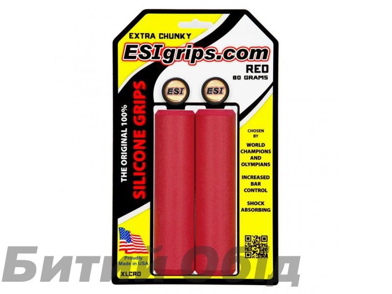 Грипсы ESI Extra Chunky Red (красные) фото, купить, киев, запорожье