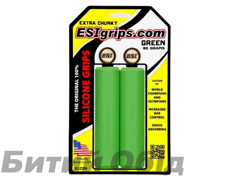 Грипсы ESI Extra Chunky Green (зеленые) фото, купить, киев, запорожье
