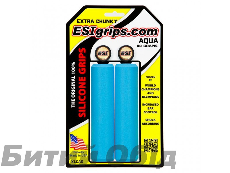 Грипсы ESI Extra Chunky Aqua (голубые)