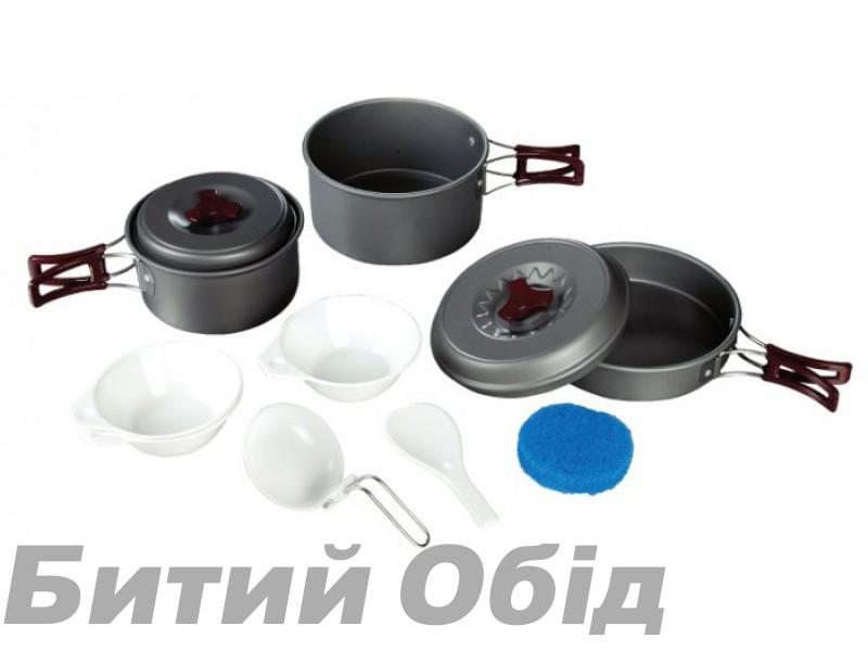 Набор посуды из анодированного алюминия Tramp TRC-024 фото, купить, киев, запорожье