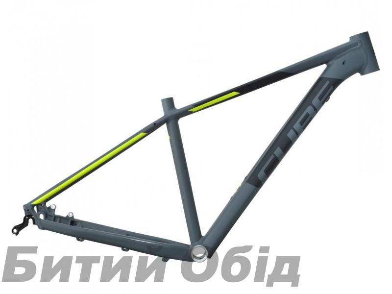 Велосипедная рама CUBE Acid darkgrey´n´flashyellow фото, купить, киев, запорожье