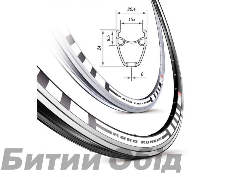 Обод Mach1 ROAD RUNNER 28 32 отв. пистон, черн