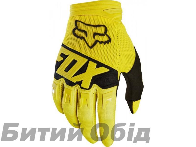 Вело перчатки FOX DIRTPAW RACE Glove желтые