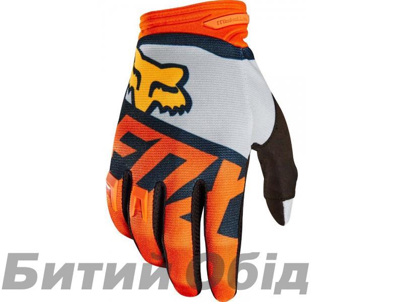 Вело перчатки FOX DIRTPAW RACE Glove бело-оранжевые фото, купить, киев, запорожье