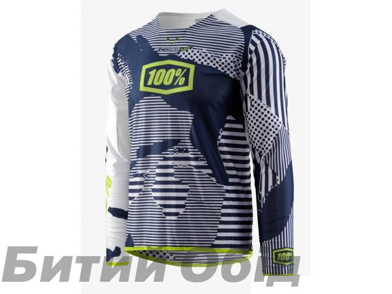 Вело джерси Ride 100% R-Core-X DH LS Jersey White Camo фото, купить, киев, запорожье