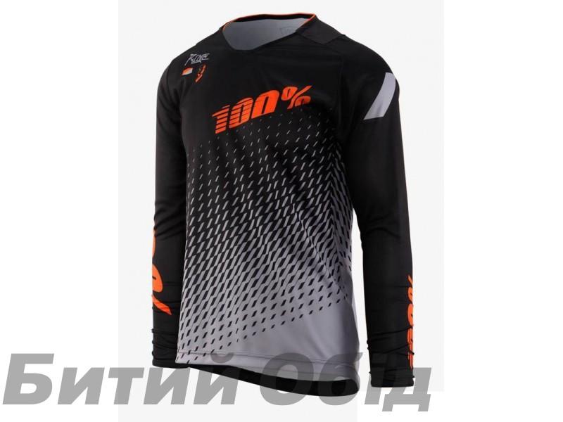 Вело джерси Ride 100% R-Core SUPRA DH LS Jersey Black/Grey фото, купить, киев, запорожье