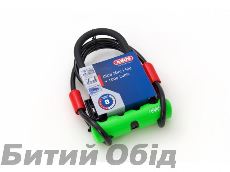 Замок ABUS 410 Ultra Mini + трос Cobra фото, купить, киев, запорожье