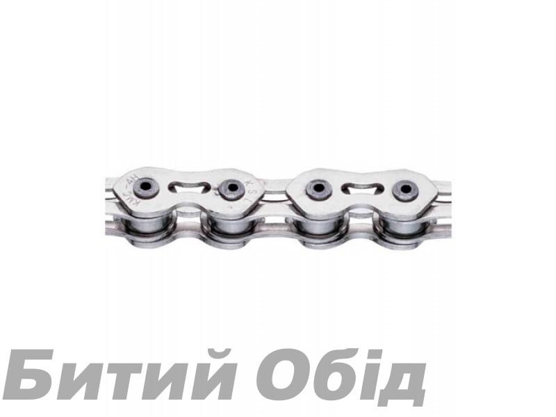 Цепь инд. 100 зв. 1/2x1/8 KMC K710SL silver/silver фото, купить, киев, запорожье