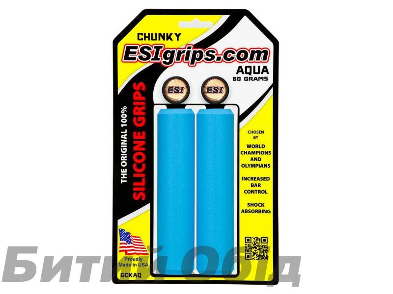 Грипсы ESI Chunky Aqua (голубые)