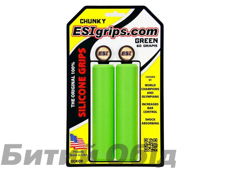 Грипсы ESI Chunky Green (зеленые) фото, купить, киев, запорожье
