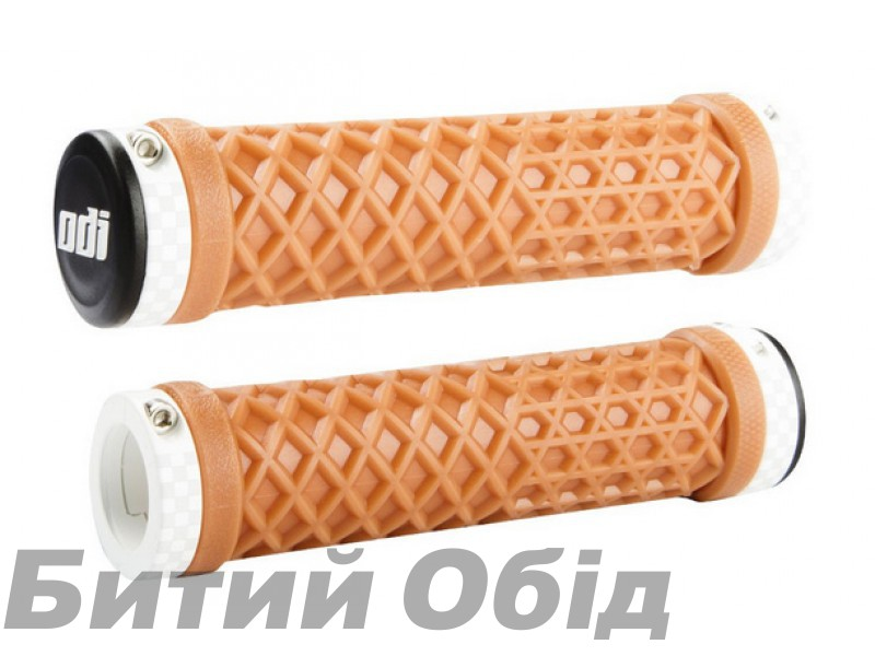Грипсы ODI Vans® Lock-On Grips, Limited Edition, Gum with Checkerboard White Clamps фото, купить, киев, запорожье
