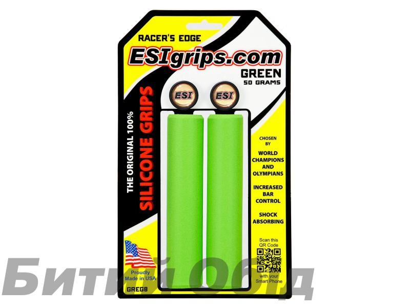 Грипсы ESI Racer's Edge Green (зеленые)