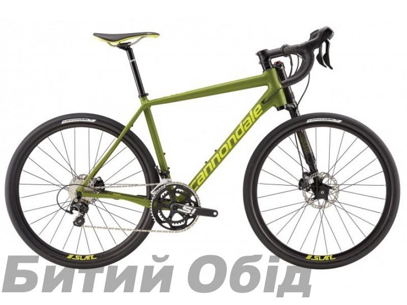Велосипед 27,5 Cannondale SLATE 105 Disc зеленый матовый фото, купить, киев, запорожье