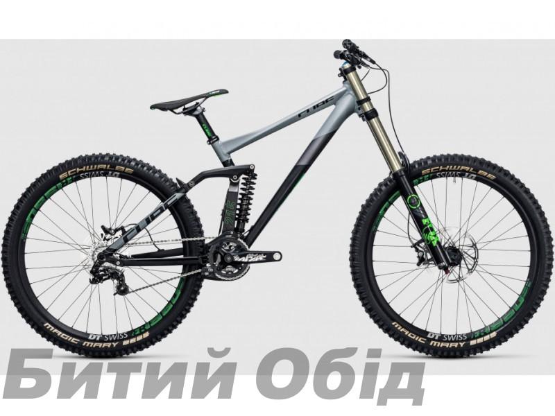 Велосипед Cube TWO15 HPA RACE 27.5 (black green) 2017 года фото, купить, киев, запорожье
