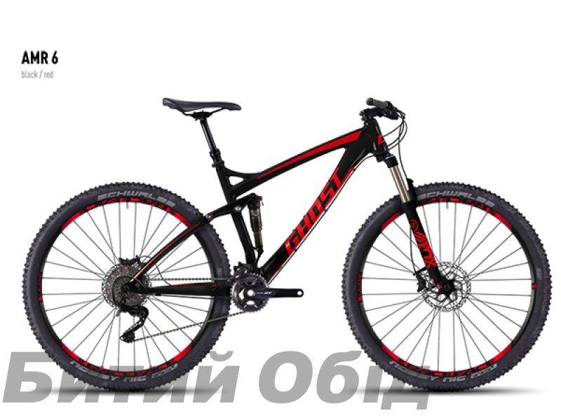 Велосипед Ghost AMR 6 (black/red) 2016 год фото, купить, киев, запорожье