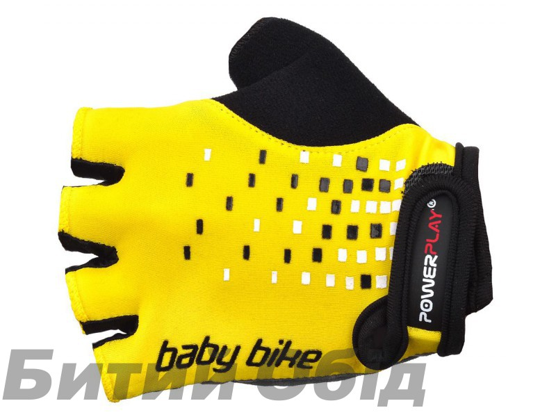 Детские велоперчатки PowerPlay 5451 (yellow) фото, купить, киев, запорожье