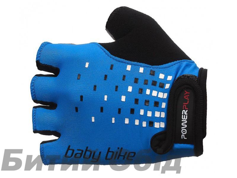 Детские велоперчатки PowerPlay 5451 (blue) фото, купить, киев, запорожье