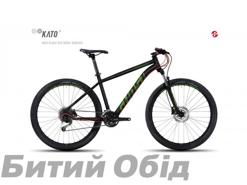 Велосипед GHOST Kato 3 AL 27.5 (2017 год) фото, купить, киев, запорожье