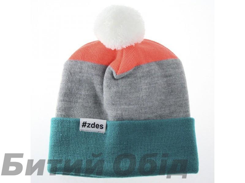 Шапка ZDES 3 COLOR (Green/Grey/Neon) фото, купить, киев, запорожье