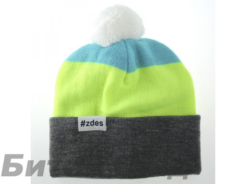 Шапка ZDES 3 COLOR (Grey/Yellow/Blue)